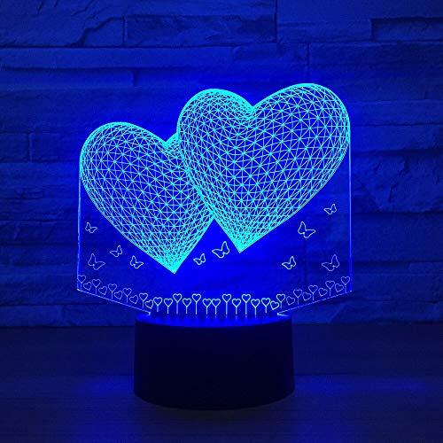 Jiushixw nachtlampje van acryl, 3D, met afstandsbediening, kleurverandering, tafellamp, violet, knipperend, combineerbaar met Dobermann Pinscher, lamp hond nachtlampje licht lamp