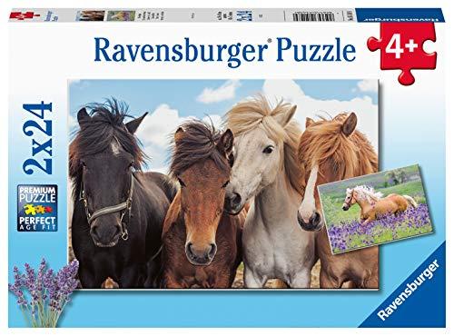 RAVENSBURGER PUZZLE  05148   Puzzle Infantil (2 x 24 Piezas, para niños a Partir de 4 años), Color Amarillo