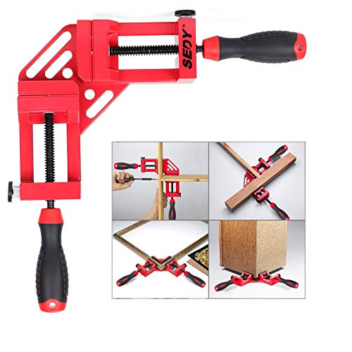 Corner Clamp, SEDY 90 Degree Right Angle Clamp, Aluminum Alloy Corner Clamp for Woodworking, Picture Framing Drilling Doweling, Quick and Accurate