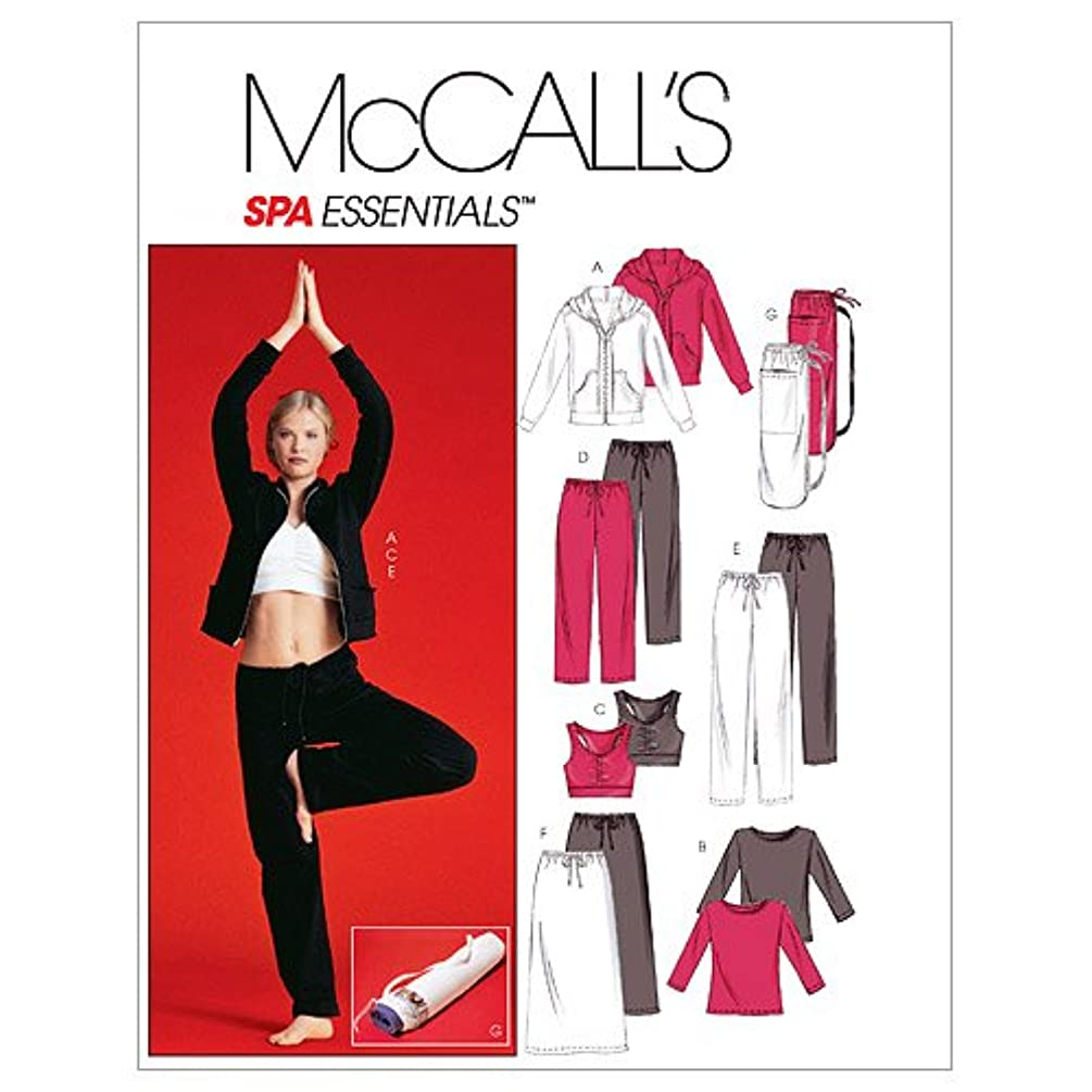 McCall's Patterns M4261 Misses'/Miss Petite Unlined Jacket, Top, Bra, Pants in 2 Lengths, Skirt and Bag, Size Y (XSM-SML-MED)