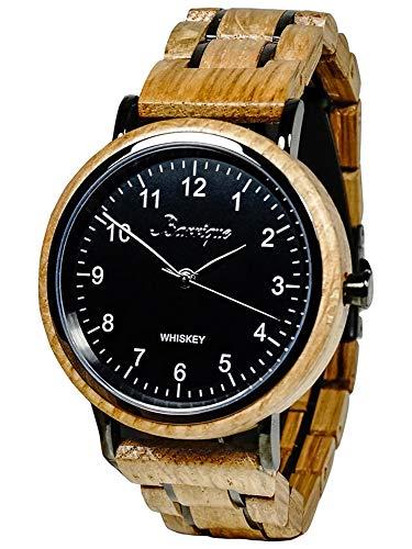 Waidzeit UT01W Whisky Uhr Herrenuhr Holz Holz 0 bar Analog braun