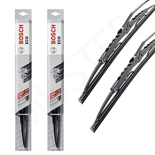 2X Ruitenwisser Bosch ECO 55C 34C vervanging wisserbladen één set 2 enkele wisserbladen R-AM-BOSCHECO-0338