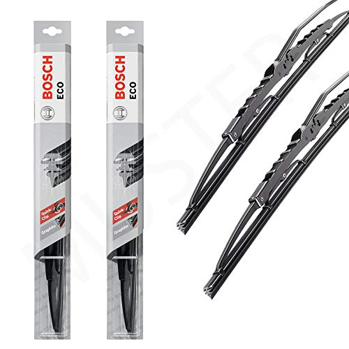 2 x ruitenwissers Bosch ECO 50C 45C vervanging wisserbladen één set 2 afzonderlijke wisserbladen R-EB-BOSCHECO-0415