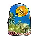XIAHAILE Mochila de estilo clásico para portátil Multiusos Daypacks,Acuario de arrecife tropical