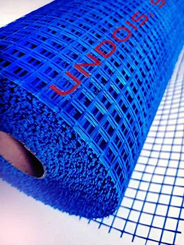 Malla de fibra de vidrio para revocos y morteros de color azul (1 rollo de 50 mts. lineales x 1 metro de ancho, total; 50/m²)