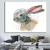 Pintura sin Marco Resumen Gran Conejo Animal Arte de la Pared póster e impresión Arte Sala de Estar decoración del hogar ZGQ1874 60X90cm