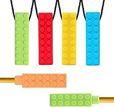 enfants autistes anxi/ét/é blue Teether B/éb/é-Silicone 100/% naturel YSBER 5-pack Collier /à m/âcher infantile moteur oral autisme ADHD SPD