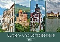 Burgen- und Schloesserreise durch Deutschland (Wandkalender 2022 DIN A2 quer): Beeindruckende Burgen, Burgruinen und Schloesser (Monatskalender, 14 Seiten )