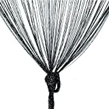 Trixes schwarzer String Tür-Teiler und Fenster Vorhang Gardine Raumteiler Dew Drop Voller Größe: 90cm x 200cm Gothic Halloweendekoration