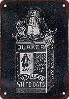 クエーカーオーツウォールメタルポスターレトロプラーク警告ブリキサインヴィンテージ鉄絵画装飾オフィスの寝室のリビングルームクラブのための面白いハンギングクラフト