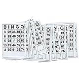 ZHIYA Tarjetas de Bingo clásicas Tarjetas de Juego de Papel de Bingo Jumbo de fácil Lectura para Adultos y niños Juego de Cartas Familiar Divertido Convenient Gifts