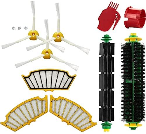 Juego 10 Accesorios Repuesto Kombi compatible para iRobot Roomba 500 Serie Aspiradora, Accesorio de Repuesto Robot Cepillos filtros Rodillos