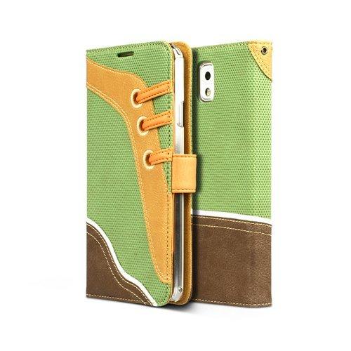 Zenus Sneakers Diary Case/Bag Groen voor Samsung Galaxy Note 3 N9000