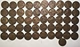 1950 Lincoln Wheat Cent Penny Roll (50) Coins Very Fine