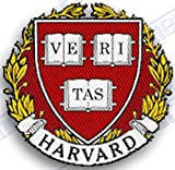 HARVARD CRIMSON IRON ON EMBROIDERED EMBROIDERY PATCH PATCHES SCHOOL OF UNIVERSITY STATE COLLEGE SIZE - 2.5' X 2.5' INCHES