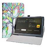 LFDZ Funda Lenovo Yoga Smart,Soporte Cuero con Slim PU Funda Caso Case para 10.1' Lenovo Yoga Smart Tab YT-X705F Tablet,Love Tree