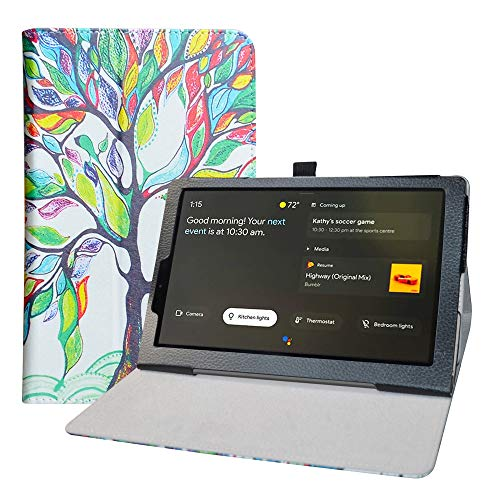 LFDZ Cover Lenovo Yoga Smart, Slim Ultra Pelle Sottile e Leggera Cover Case Custodia per 10.1' Lenovo Yoga Smart Tab YT-X705F Tablet,Love Tree