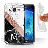 Stuff4 Personnalisé Marbre Or Rose Pailleté Personnalisé Coque Gel/TPU pour Samsung Galaxy...
