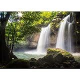 Accesorios de Fondo de fotografía de Cascada de Paisaje Natural Accesorios de Fondo de Foto de Retrato de Paisaje de Primavera A15 5x3ft / 1.5x1m