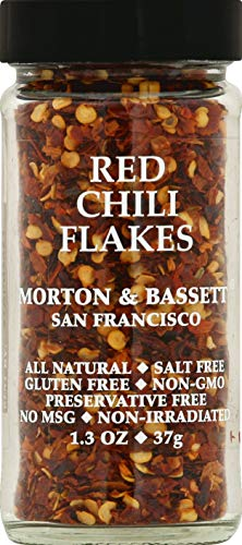 Morton & Basset Spices, Red Chili Flakes, 1.3 Ounce