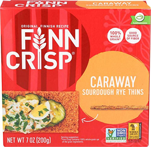 Finn Crisp Crispbread, Caraway, 7-Ounce (Pack of 9)