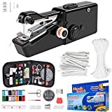 Handheld Sewing Machine, Mini Handy Cordless Portable Sewing Machine, with Sewing KIT 11Yards Elastic Band and 50Pcs Nose Bridge Band Clip for Beginners Quick Handy Stitch DIY Sewing Crafts Kit 99 PCS