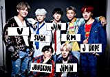 BTS Group With Names Music Poster Framed or Unframed Glossy Poster (A3-297 × 420 mm Unframed)