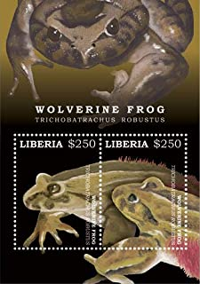 2017 Wolverine Frog, Collectible Souvenir Sheet of 2 Stamps, Mint Never Hinged