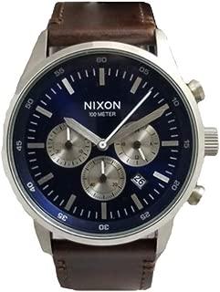 Nixon Fremont Chrono Leather Blue Sunray Brown Men's Watch