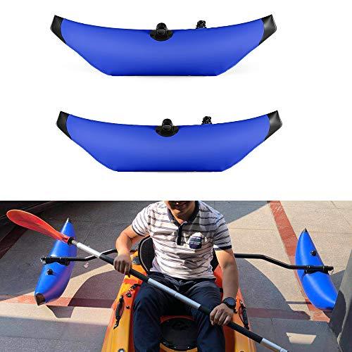 Lixada Kayak PVC Inflatable Outrigger Kayak Canoe Fishing Boat Standing Float Stabilizer System(Without Metal bar) -2 PCS