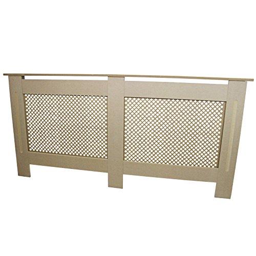 Cubierta de radiador Natural sin terminar MDF Madera enrejada Parrilla Moderna calefacción Muebles hogar gabinete Estante 1720mm