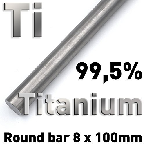 Rundstäbe reiner Metalle 8 x 100 mm zur vergleichenden Untersuchung von Werkstoffeigenschaften, Referenz-Proben (Titan)