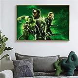 KWzEQ Imprimir en Lienzo Cartel Moderno de la Estrella de Cine y fotografías para el sofá de la Sala de estar60x90cmPintura sin Marco