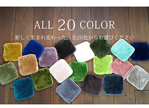 選べる20色7サイズEXマイクロファイバーシャギーラグMS-300200R円形アイボリー46096808