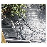 YJFENG Teichfolie, Geotextil Undurchlässig Membran, 0,5 Mm Schwerlast Wasserdicht Stoff Plane Für Die Landschaftsgestaltung Mülldeponie Aquakultur (Color : Black, Size : 2x2m)