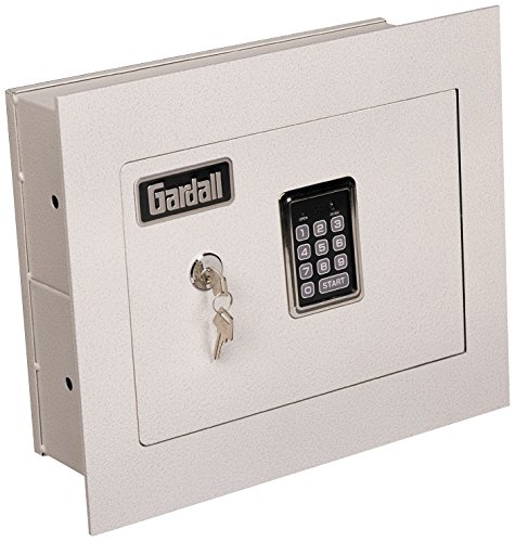 "Gardall WS1314-T-EK 4"" Concealed Wall Safe with Single Key and Electronic Lock, Tan"