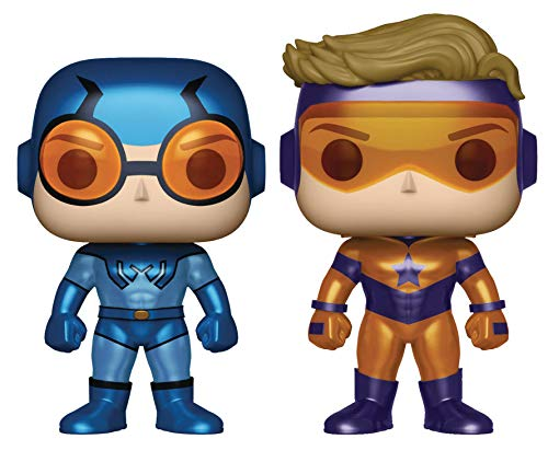 Set 2 Figuras Pop DC Blue Beetle & Booster Gold Metallic Exclusive