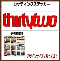 【文字】THIRTYTWO 32 サーティーツー カッティングステッカー (レッド, 横20x縦6cm 1枚)