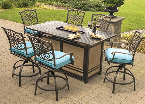 Hanover Fire Pit Table Set Outdoor Furniture