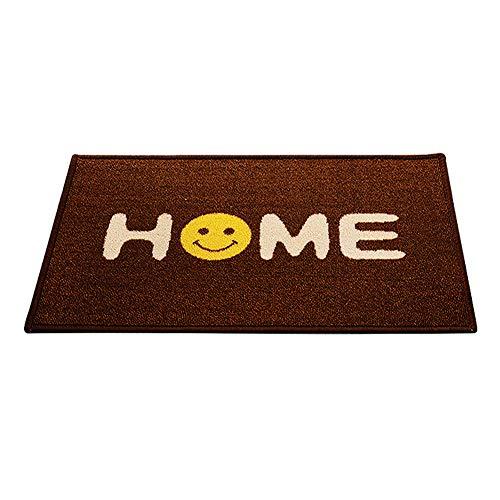 Hbwz Non-Slip Rug Smiley Face Print Door Mats Rubber Backing Entrance Mat Living Room Carpet Machine Washable