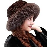Valpeak Womens Winter Hat Knitted Mink Real...