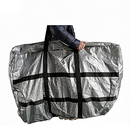 N / A Bicycle Travel Transport Bag, Folding Bike Bag - Waterproof Bicycle Travel Case Outdoors Bike Transport Bag for Cars Train Air Travel for 26