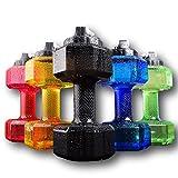 Upgrade Dumbbell Shaped Water Bottle | Big Capacity 75 Oz (2.2 L)| BPA Free | Flip Top Leak Proof lid | 5 Colors(Green)