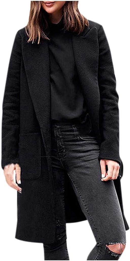TWGONE Trench Coats for Women Selling rankings Plus Black Long Size Winter Virginia Beach Mall Lapel