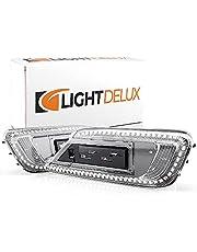 LIGHTDELUX Vervanging voor led-knipperlichten, zijknipperlichten, knipperlicht, dynamisch loopknipperlicht, compatibel met MINI CLUBMAN (F54), alle modellen V-173320LG