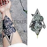 tzxdbh 5Pcs-S/Set Pequeño Brazo De Flor Completa Pegatinas De Tatuaje Impermeables Sirena para Mujeres Hombres Arte Corporal En Tatuajes De En Xqb013