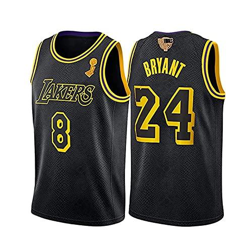 GFQTTY Camiseta De Baloncesto, Lakers # 8# 24 Camiseta Conmemorativa De La NBA Camiseta De Mamba Negra Camiseta De Edición Personalizada Bordada Transpirable