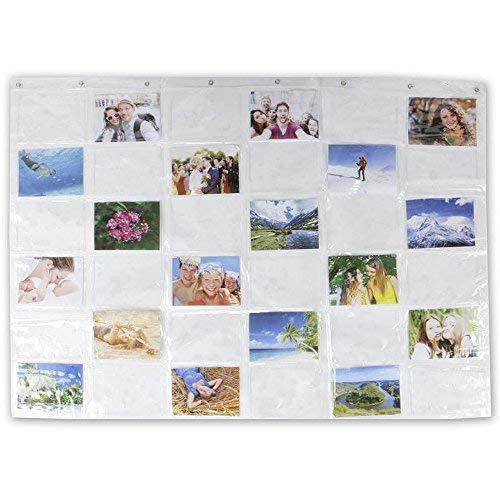 MIK Funshopping Kartenvorhang Fotovorhang On Display 36 Fotos 13 x 18 cm Collage für Bilder, Fotos und Postkarten, Querformat, Fotowand Fotogalerie Fototaschen Fotohalter Taschenvorhang