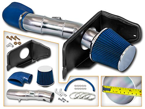 Filter Combo BLUE Compatible For 08-14 Subaru WRX//STI 2.5L Turbo Rtunes Racing Cold Air Intake Kit