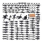 RSWLY Oeasy Military Ejército Juguetes, 96 PCS WW2 Light y Pesada Armas Set para Mini Figuras Swat Team Soldiers Police, Compatible con Lego (Color : 96pcs)